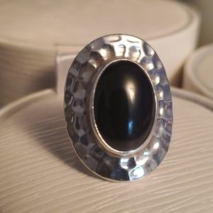 Jewelry - Gorgeous genuine silver and black onyx ring